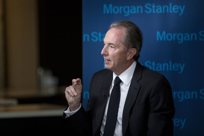 "Clients are gravitating toward the ""biggest, stable institutions,"" Morgan Stanley CEO James Gorman said."