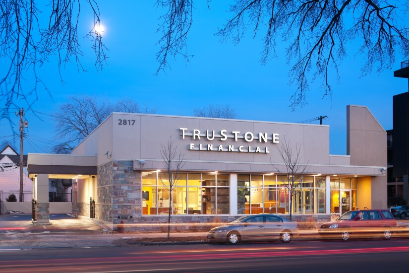 TruStone Financial's Lyn-Lake Minneapolis branch, located minutes from downtime Minneapolis in the Lyn-Lake neighborhood.