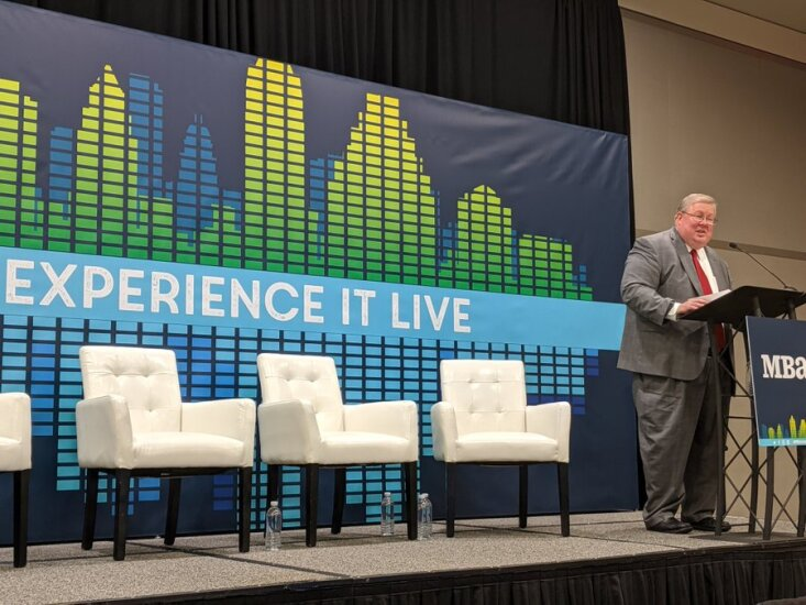Brian Montgomery at a panel discussion at MBA Annual 2019