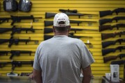 A customer at a gun shop in Albuquerque, New Mexico.