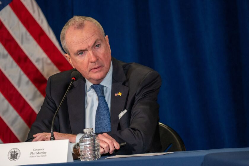 Phil Murphy, governor of New Jersey, speaks during a news conference in Trenton, New Jersey.