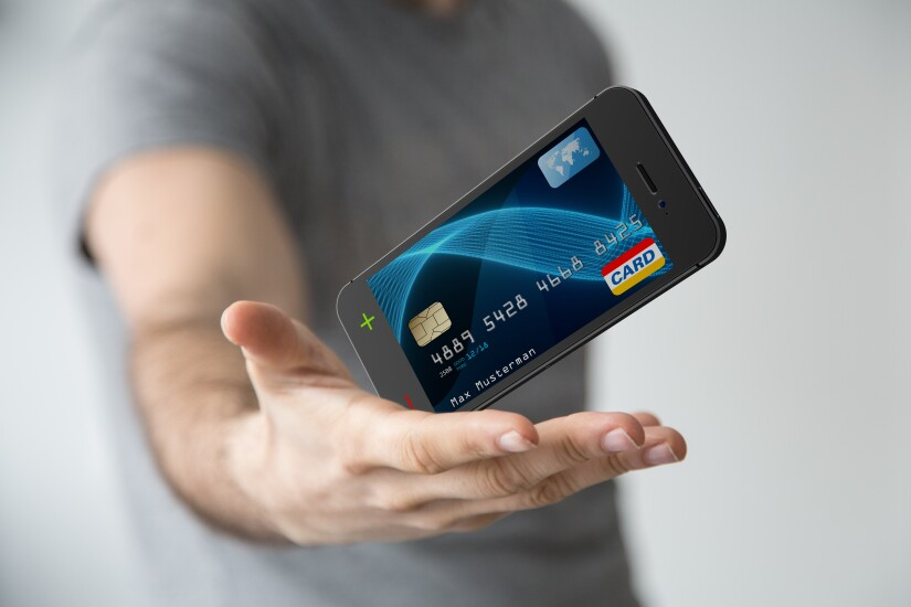 Phone transforms into credit card