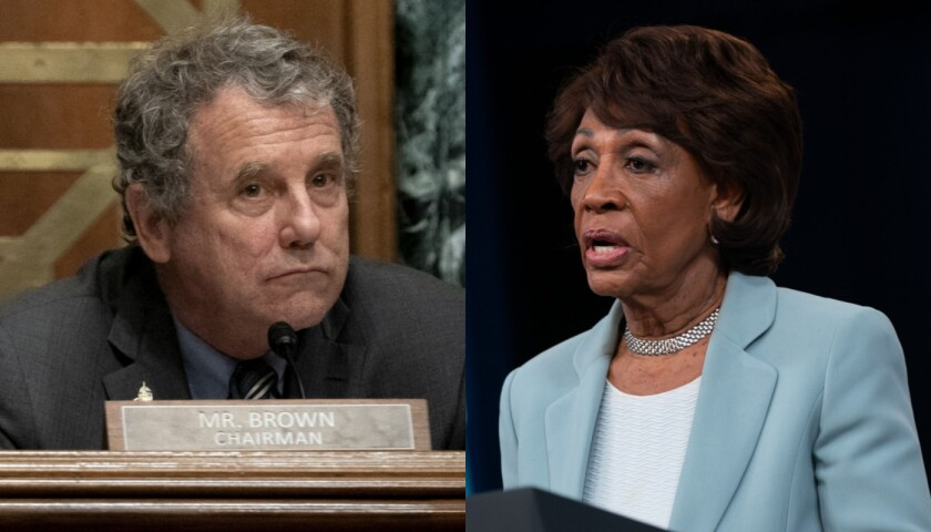 Democrats such as Senate Banking Committee Chairman Sherrod Brown, D-Ohio, and House Financial Services Committee Chairwoman Maxine Waters, D-Calif., have pushed bills to offer free, federally backed accounts, restrict overdraft fees and cap consumer loan interest rates at 36%.