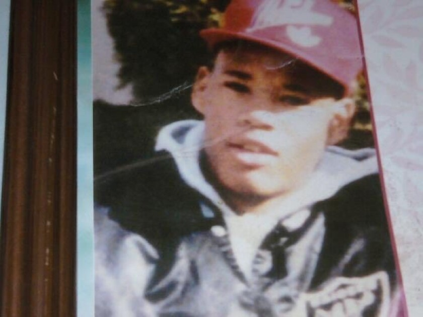 Brady Cumbuss, advisor Rachel Robasciotti's cousin, in an undated photo taken when he was about 19. He died in police custody in 1995 in an event that drew protests in his hometown of Oroville, California.