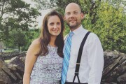 Whitney Austin, an employee of Fifth Third injured in the shooting there in September 2018, and her husband, Waller Austin.