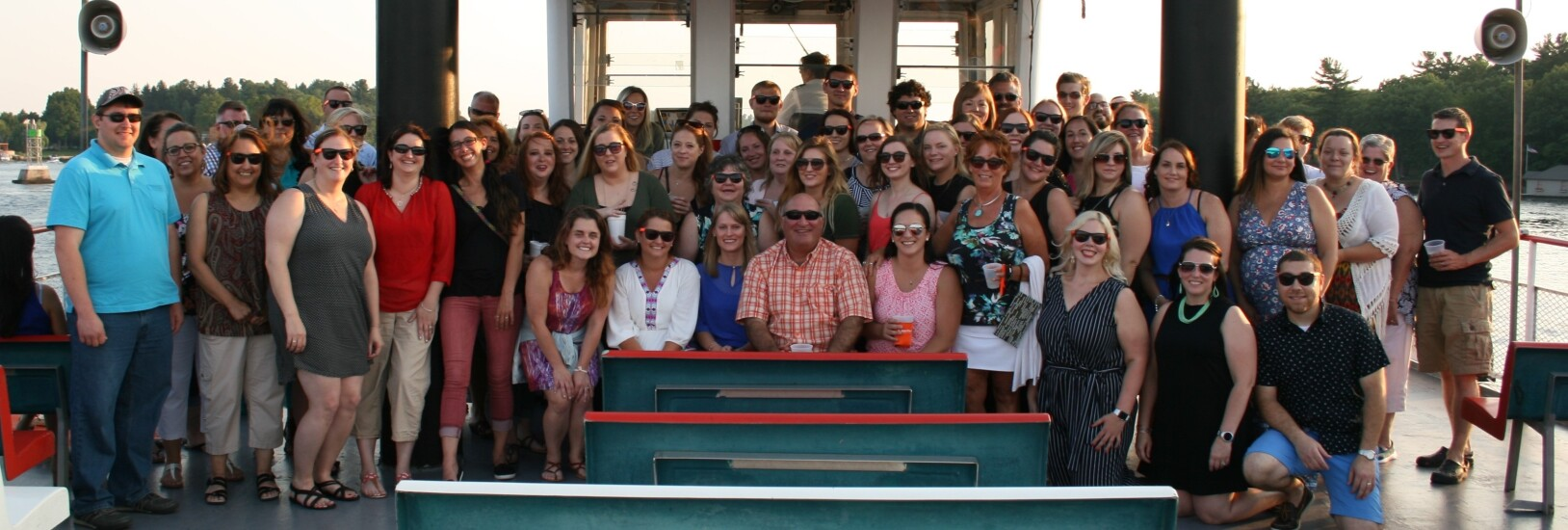 Northern Credit Union's senior management and staff enjoy a summer boat cruise.