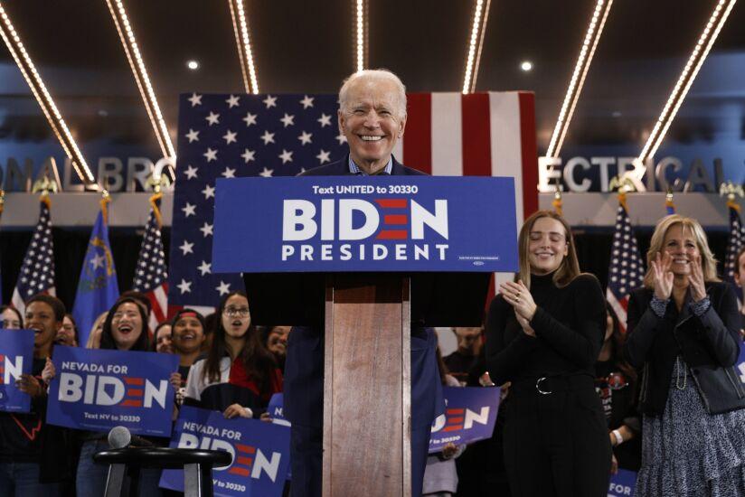 Joe Biden Holds Caucus Day Event