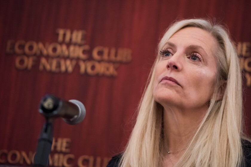 """""""Scenario analysis is an exploratory exercise that allows banks and supervisors to assess business model resilience to a range of long-run scenarios,"""" said Federal Reserve Gov. Lael Brainard."""