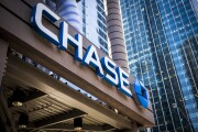 Signage is displayed outside a JPMorgan Chase bank branch in Chicago.