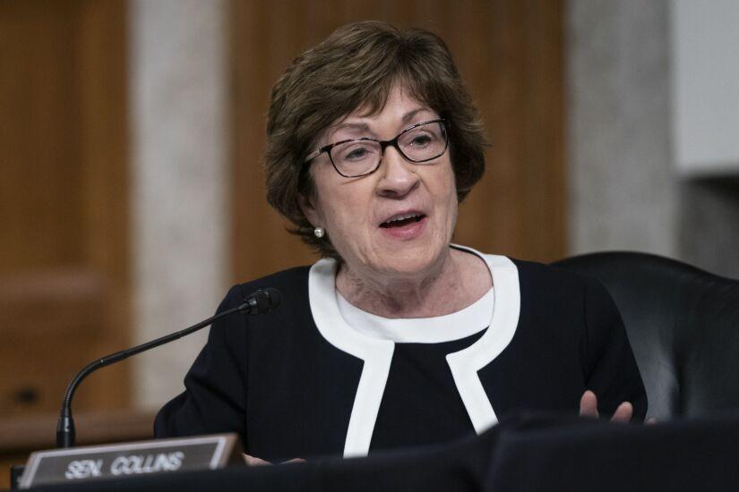 Senator Susan Collins, a Republican from Maine