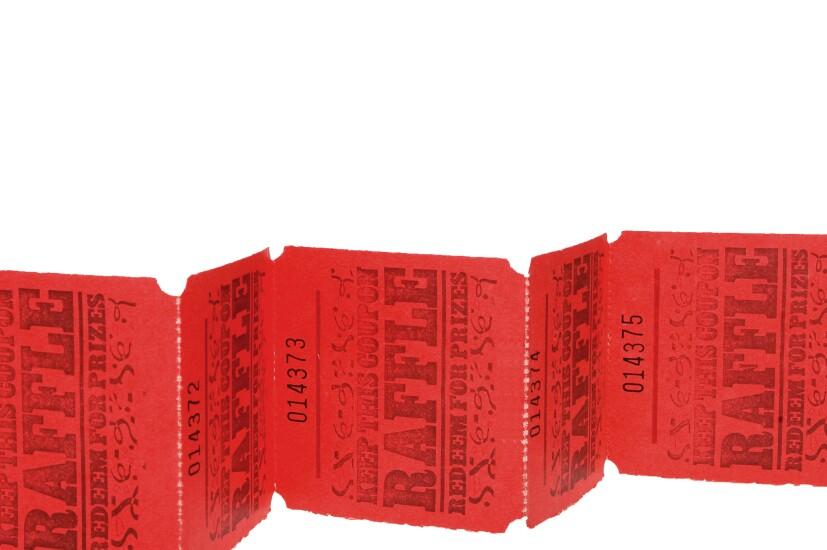 Strip of raffle tickets