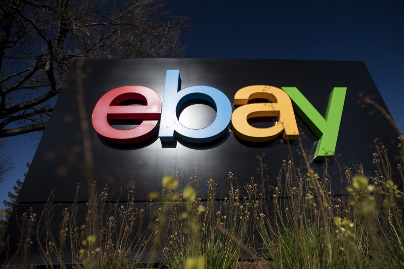 eBay sign and logo