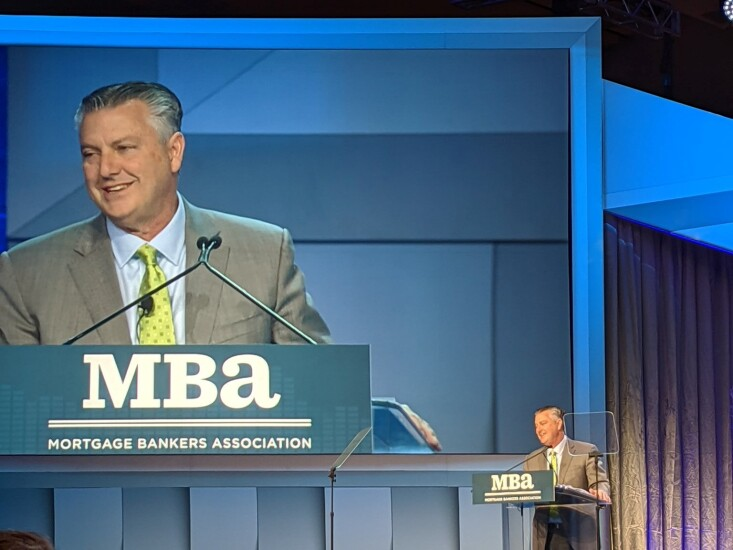 Christopher George gives opening speech at MBA Annual 2019