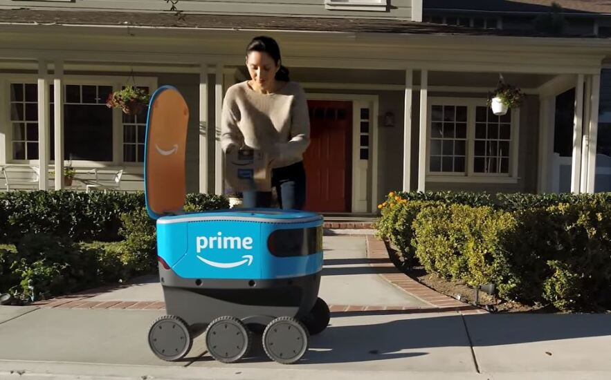 Amazon Scout delivery