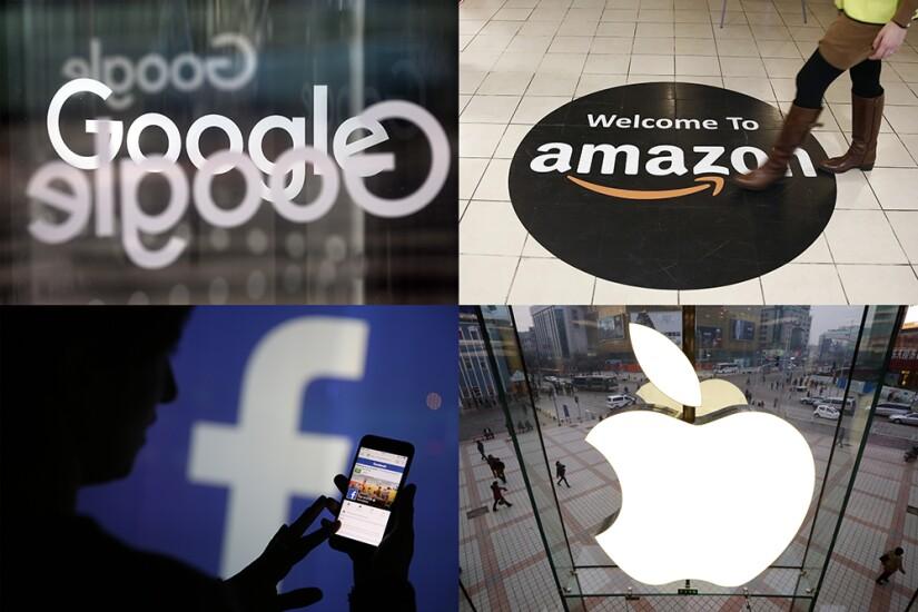 Google, Amazon, Facebook, Apple