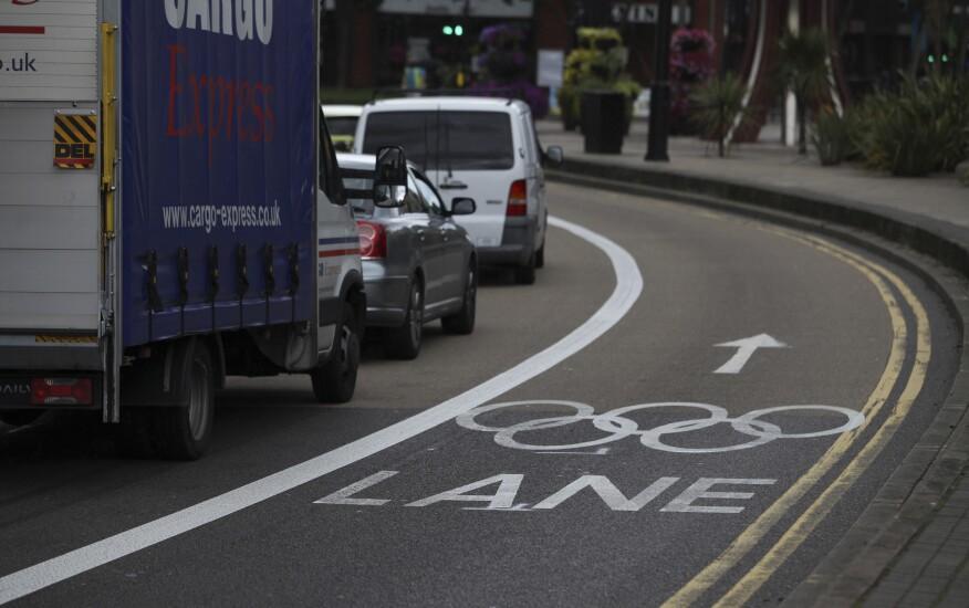 Olympic Village traffic pattern