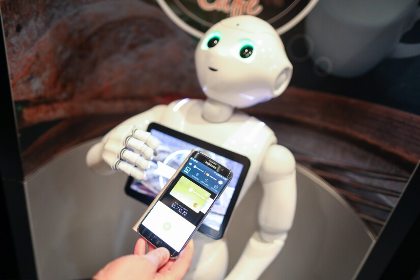 SoftBank Pepper and Samsung Pay
