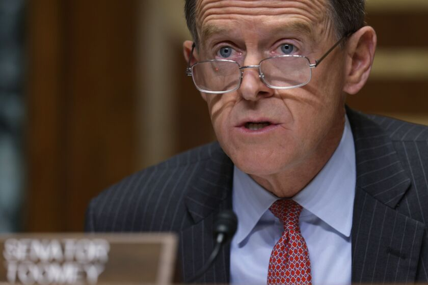 Sen. Pat Toomey, who will likely chair the Senate Banking Committee if Republicans maintain their majority in the chamber, said the proposal will not eliminate the Federal Reserve's 13(3) emergency lending authority.