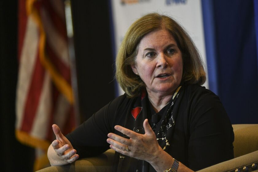 Esther George, the president and CEO of the Federal Reserve Bank of Kansas City, was among the conference's scheduled speakers.