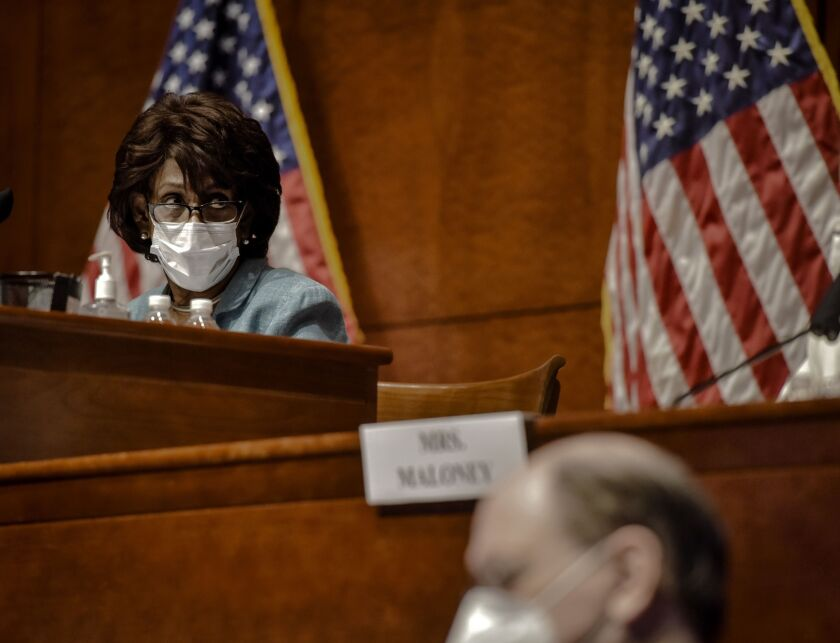 """I cannot think of a better way to spend our Committee's time than these legislative solutions to help American families during and beyond this pandemic,"" said House Financial Services Committee Chairwoman Maxine Waters."