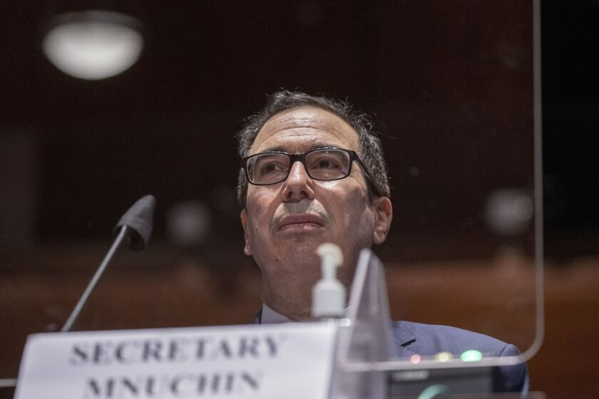 Treasury Secretary Steven Mnuchin told a House committee Tuesday that the Trump administration supports enacting additional stimulus legislation by the end of July. He said he's had discussions with the Senate about revising PPP to help restaurants, hotels and other hard-hit businesses.