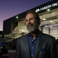 Ron Carson at Carson Group's airport hangar in Omaha, Nebraska.