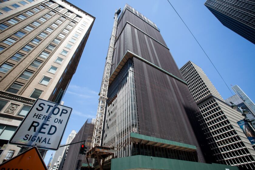 The headquarters of JP Morgan Chase in New York.