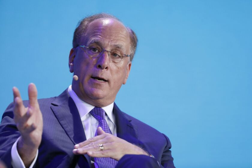 """""""We must use our voice and work with others to advocate for change within our industry and across society more broadly,"""" CEO Larry Fink wrote in a LinkedIn post."""