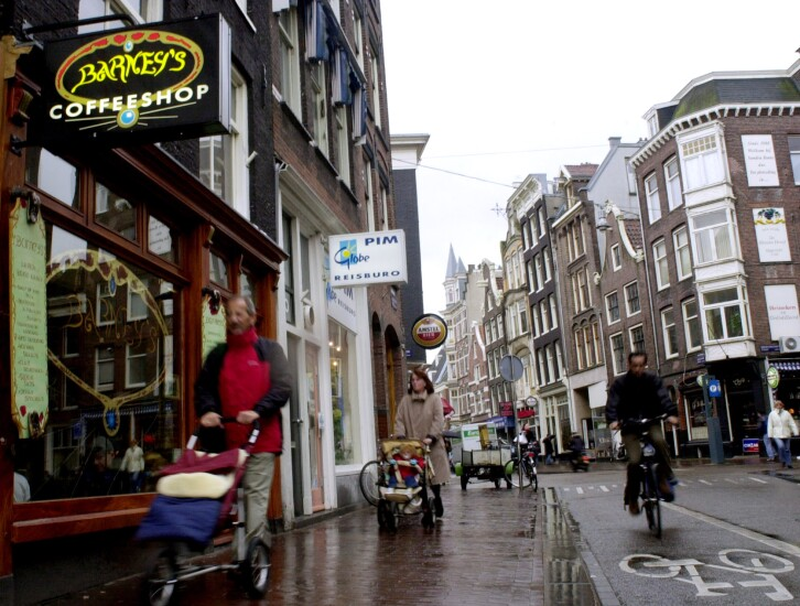 Barney's coffeeshop in The Netherlands