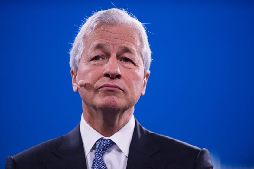 """Jamie Dimon said JPMorgan Chase entered the coronavirus pandemic """"from a position of strength"""" and """"has enough capital [on hand] to handle the crisis."""""""