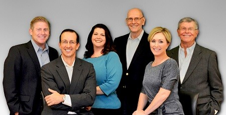 From left to right: Hamilton Neal, Phil Greer, Samantha McMillan, Bill Dukelow, Lindsay Navin and John Solomon.