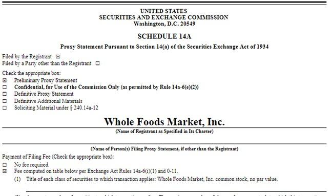 SEC Proxy Statement