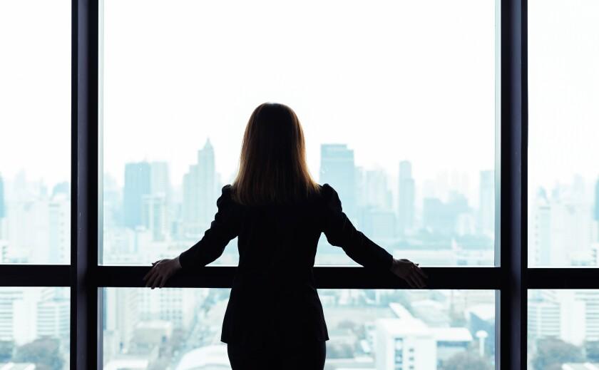 Executive woman silhouette 2020