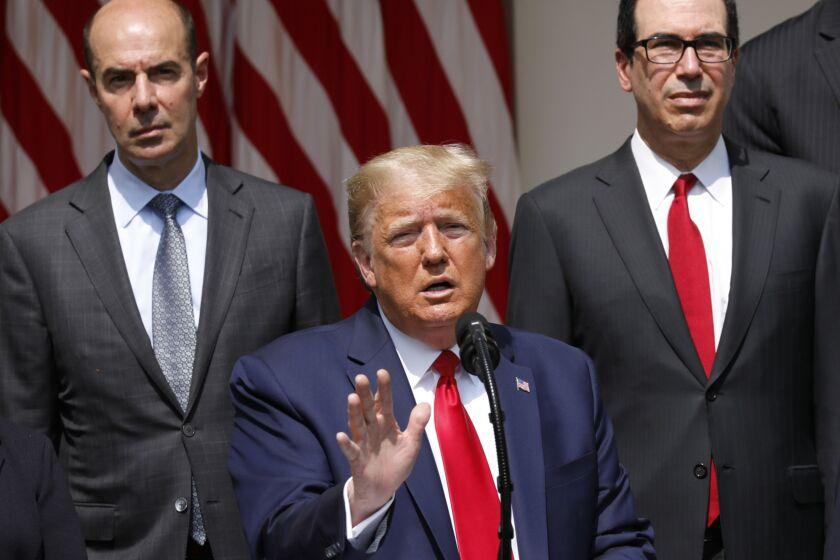 President Trump speaks outside the White House on June 5.