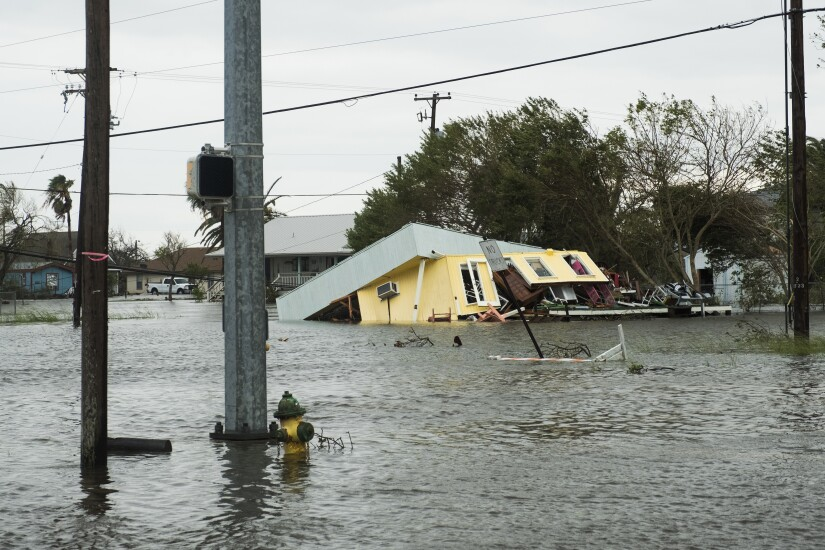 Hurricane Harvey flooded Rockport, Texas