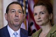 Comptroller of the Currency Joseph Otting (right) and FDIC Chairman Jelena McWilliams.
