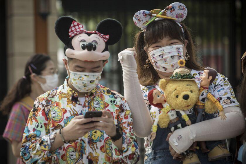 Visitors at Shanghai Disneyland