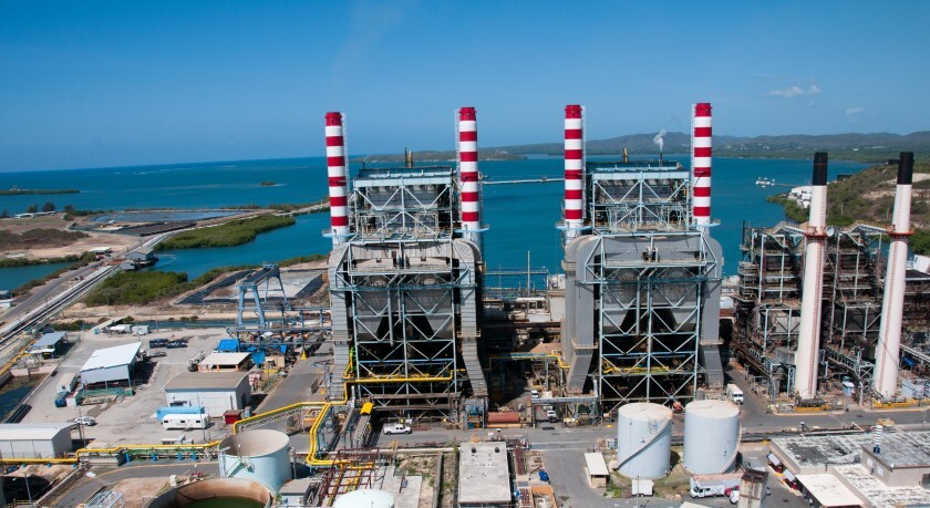 Costa Sur power plant for PREPA before January 2019 damage