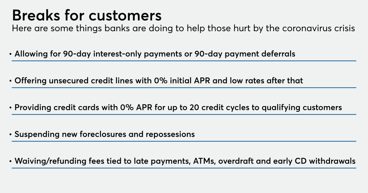 Small Dollar Loans Highlight Banks Coronavirus Relief Efforts American Banker