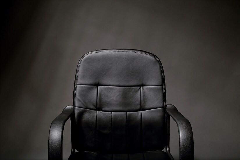 Empty leather chair.
