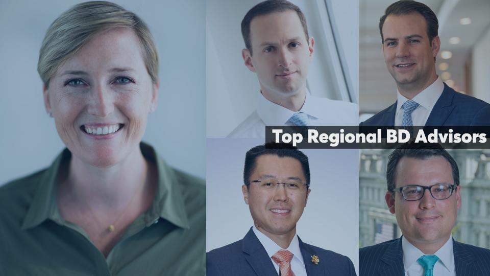 Top regional BD advisors under 40 cover slide 2020 edition