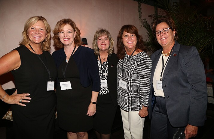 Patricia Husic, Sandie Schultz, Leslie Meck, Christy Pavlakovich and Kimberly Turner, all of of Centric Financial Corp.