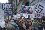 Demonstrators outside Trump Tower