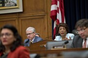 Rep. Maxine Waters, D-Calif., right, and Rep. Patrick McHenry, R-N.C.