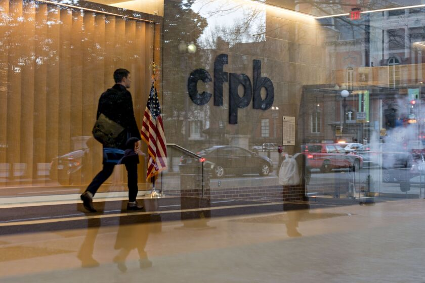 """The CFPB announced the complaint Wednesday against Townstone Financial, a small nonbank mortgage lender that marketed its services through an infomercial and podcast called """"The Townstone Financial Show."""""""