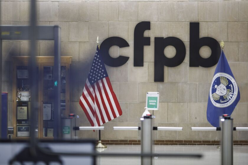 """""""This is clearly an act of domestic terrorism and violence that is reprehensible,"""" said CFPB Director Kathy Kraninger in a memo to staff."""
