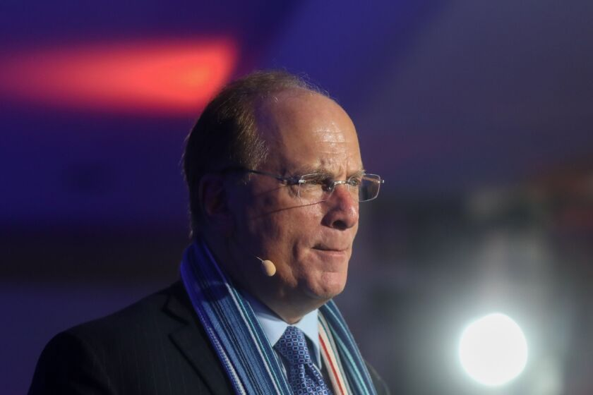 "BlackRock CEO Larry Fink has told shareholders the coronavirus pandemic should be used as an ""opportunity to accelerate into a more sustainable world."""
