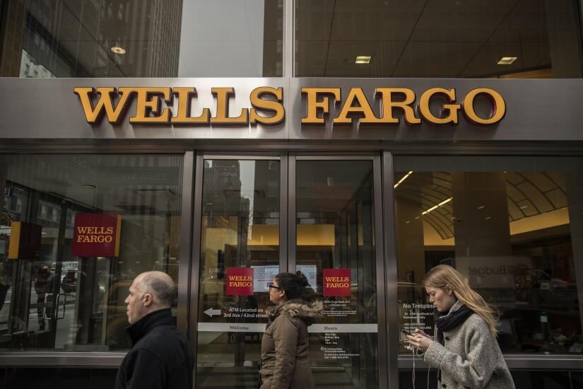 Wells Fargo bank branch 2017 Bloomberg News
