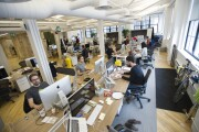 Open plan office space at Shopify in Toronto