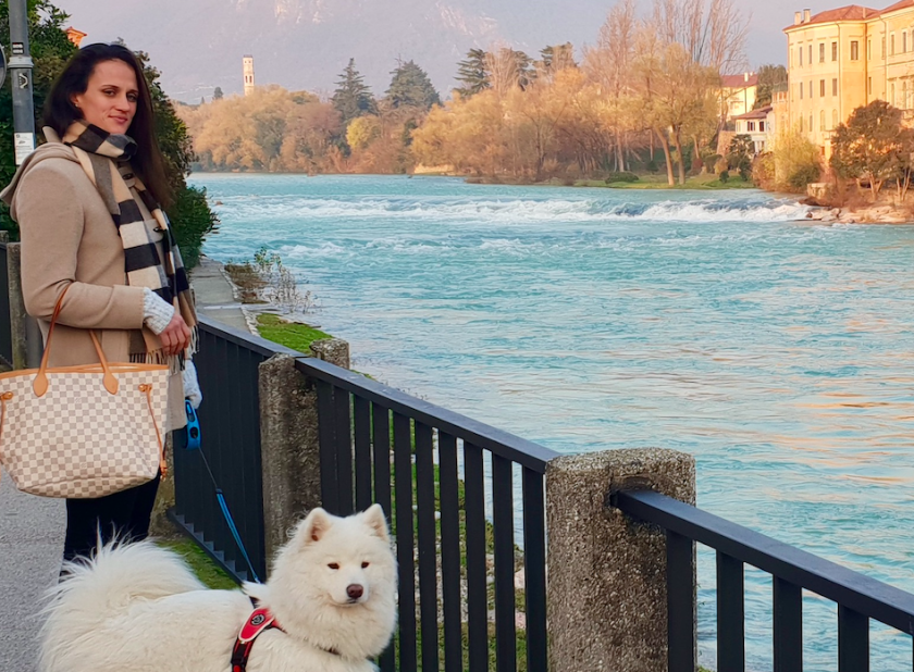 After retiring from basketball, Jillian Harmon, pictured last year in Bassano del Grappa in northern Italy, may continue living abroad and helping other expat American athletes as a planner.